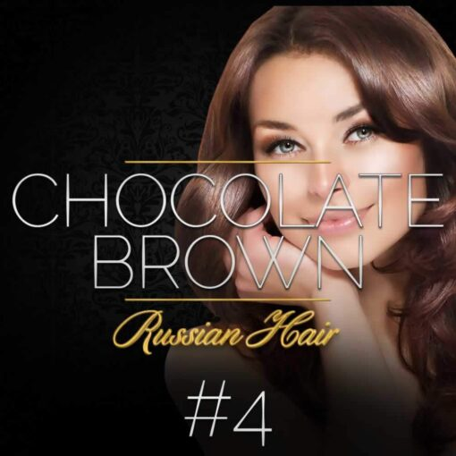 Chocolate Brown Russian Double Drawn Hair Extensions 100G #4 Chocolate Brown Russian Hair 1
