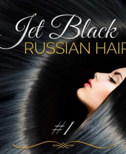 Jet Black Russian Double Drawn Hair Extensions 100G #1 Black Russian Hair