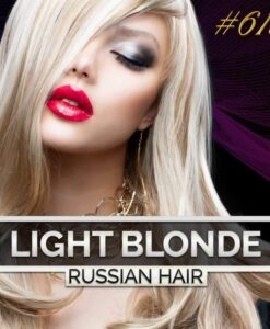 Light Blonde Russian Double Drawn Hair Extensions 100G #613 Light Blonde Russian Hair