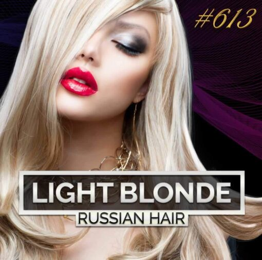 Light Blonde Russian Double Drawn Hair Extensions 100G #613 Light Blonde Russian Hair 1