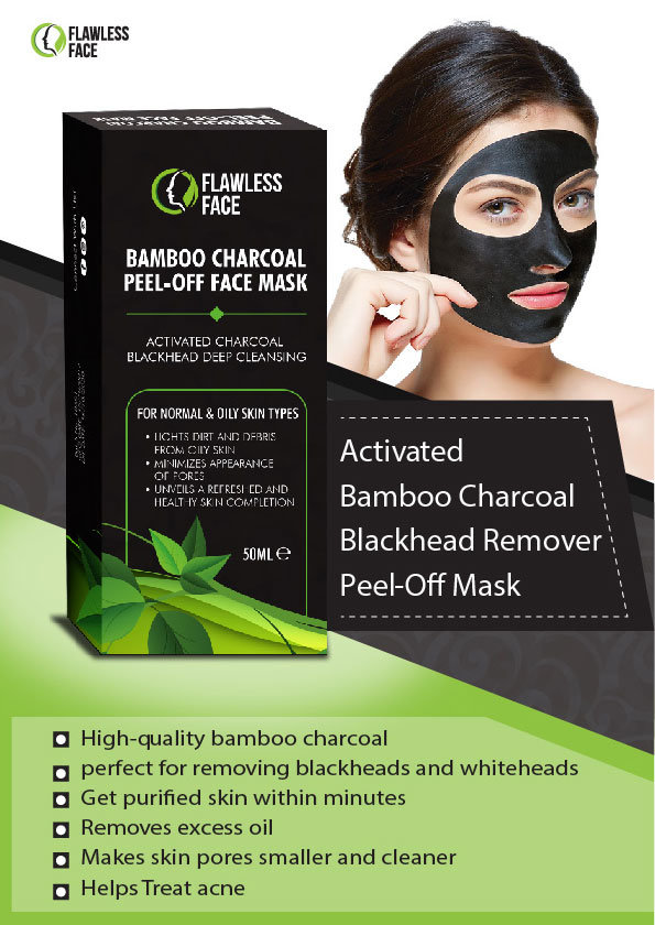 69b4ddf711fa Activated Charcoal Black Face Mask - Peel-Off Facial Mask with Activated  Carbon - Removes Blackheads and Cleansing Skin 50ml